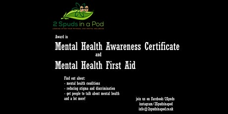 Mental Health Awareness and Mental Health First Aid Certificate tickets