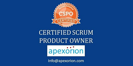 CSPO ONLINE (Certified Scrum Product Owner) - July 16-17, Dublin, CA tickets