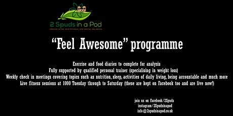 """""""Feel awesome"""" programme tickets"""