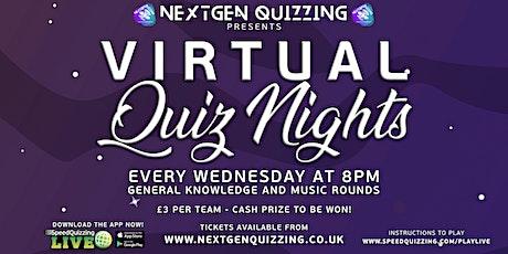 Virtual Quiz Nights - Every Wednesday tickets