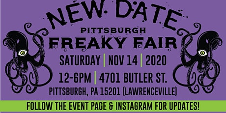 Pittsburgh Freaky Fair (NEW DATE) tickets