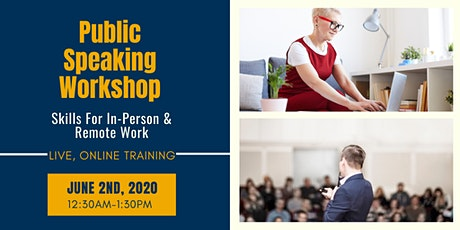 Public Speaking Workshop: Skills for In-Person and Remote Work tickets