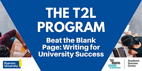 Beat the Blank Page: Writing for University Success tickets
