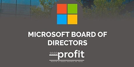 Mesa Directiva MICROSOFT PROFIT 2020 entradas