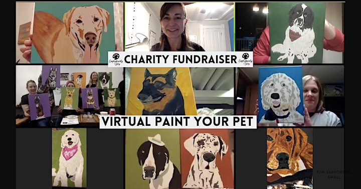 Virtual Paint Your Pet Night - Charity Fundraiser image