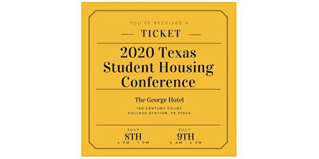 2020 Texas Student Housing Conference tickets