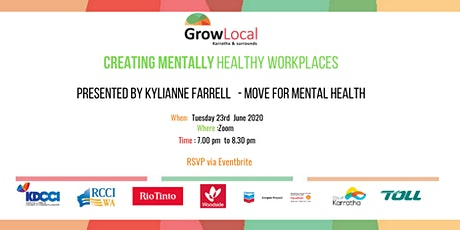 Grow Local Workshop - Creating A Mentally Healthy  tickets