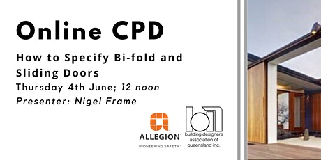 ONLINE CPD: How to Specify Bi-fold and Sliding  Doors tickets
