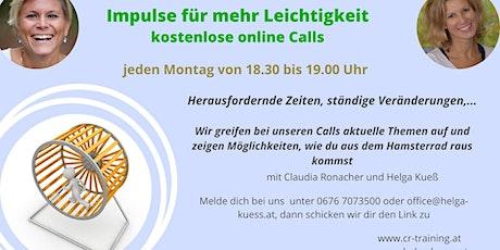 Impulse für mehr Leichtigkeit - online Calls Tickets