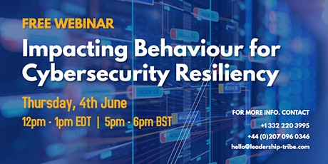 Impacting Behaviour for Cybersecurity Resiliency tickets