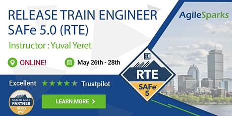 {Guaranteed to run} SAFe 5.0 Release Train Engineer with RTE Certification - May 26-28 - Live Virtual Classroom tickets