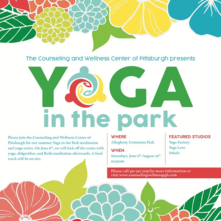 Yoga in the Park, by Counseling and Wellness Center of Pittsburgh image