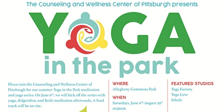 Yoga in the Park, by Counseling and Wellness Center of Pittsburgh tickets