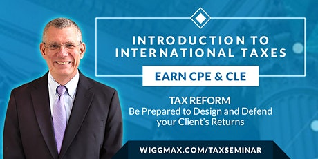 International Tax Reporting Introduction - Live Webinars tickets