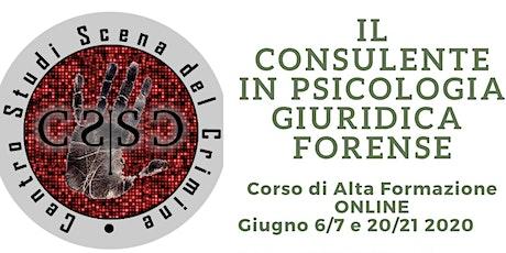 Il Consulente in Psicologia Giuridica e Forense biglietti