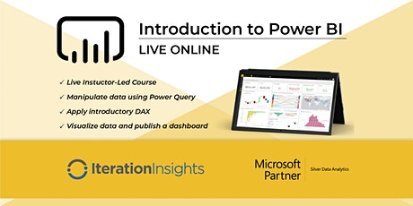 HANDS DOWN THE BEST Introduction to Power BI and DAX - Calgary Virtual 2 Day tickets