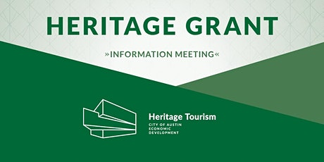Heritage Grant Virtual Information Meeting tickets