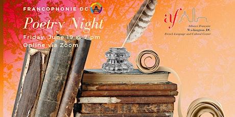ONLINE: La Nuit de la Poésie, 3rd edition tickets