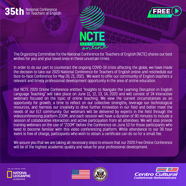 NCTE 2020 Online image
