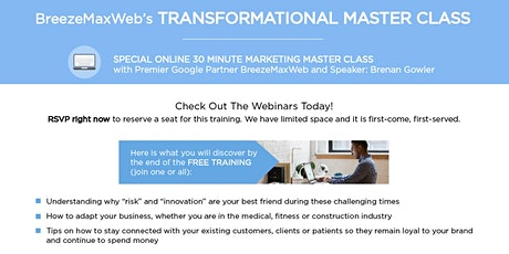 BreezeMaxWeb's TRANSFORMATIONAL Master Class tickets