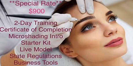 2 DAY MICROBLADING CERTIFICATE TRAINING tickets
