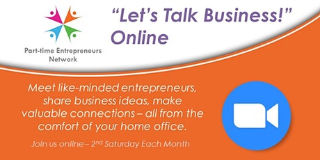 "Online Networking Event - ""Let's Talk Business!"" tickets"
