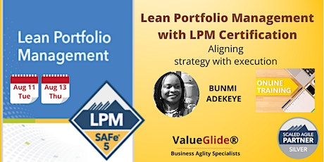 Lean Portfolio Management - SAFe® 5.0 - VIRTUAL tickets