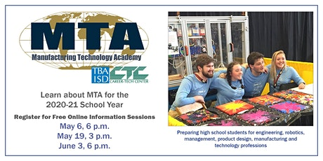 Manufacturing Technology Academy Online Information Sessions bilhetes