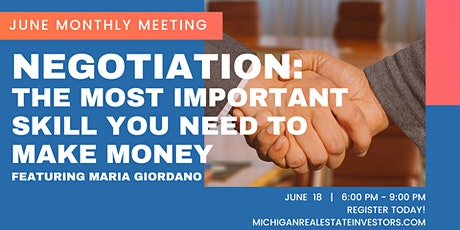 June Monthly Meeting: Negotiation - The Most Important Skill You Need tickets