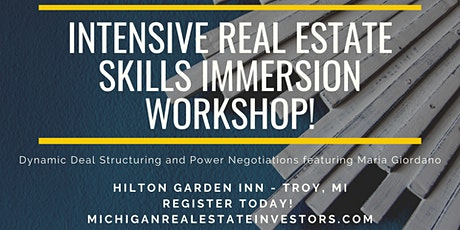 Intensive Real Estate Skills Immersion Workshop with Maria Giordano tickets
