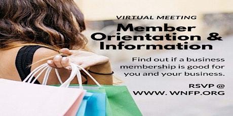 Member Orientation & Information Meeting (Business Organization) tickets
