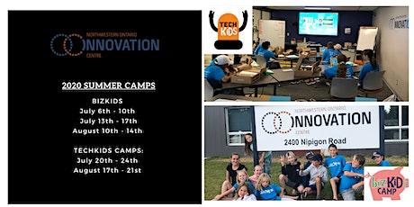 NWO Innovation Centre Bizkids Camp August 10th - 14th tickets