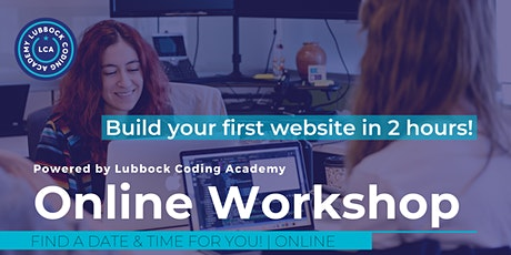 Lubbock Coding Academy | VIRTUAL Learn to Code Workshop tickets