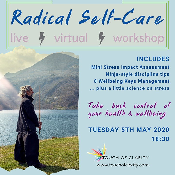 Radical self-care  - Virtual Live Workshop image