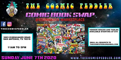 The Cosmic Peddlers Quarterly Comic Book & Toy Swap tickets